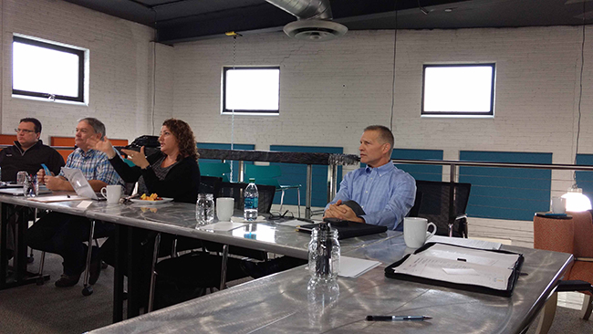 Photo of the CIE Board Meeting at Think Space of Lansing MI